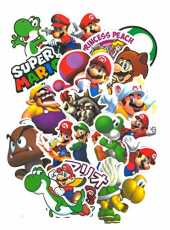 SetProducts Top Stickers ! Lot de 99 Stickers Mario Bros - Autocollant Top Qualité Non Vulgaires – Luigi, Yoshi, Browser, Toad, Mario World - Customisation Portable, Bagages, Moto, vélo, Skateboard