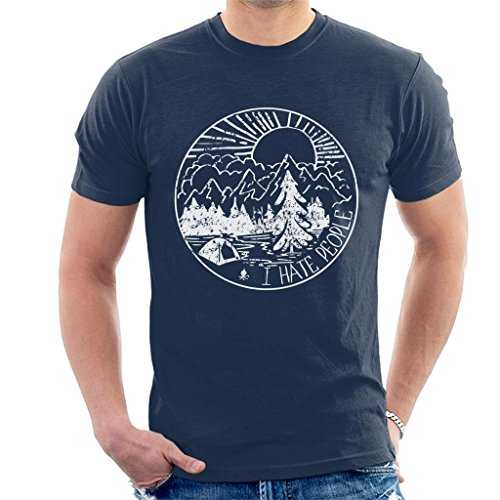 Cloud City 7 The Great Outdoors I Hate People Men's T-Shirt