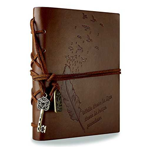 RYMALL New Vintage Magique Key String Notebook Journal Blank Agenda Jotter Cahier Corde Vintage Intimate Diary (Café)