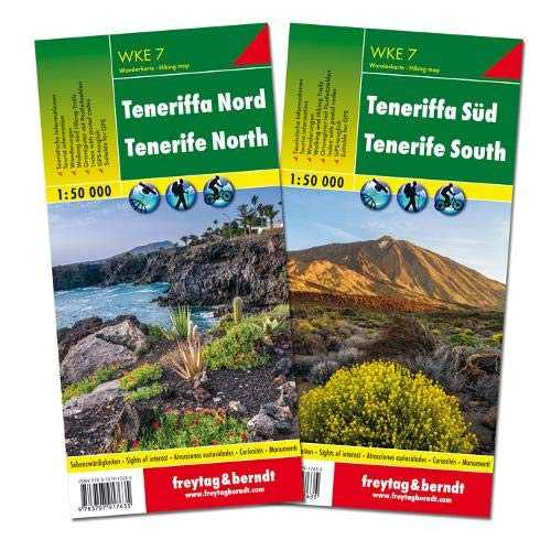 Tenerife North and South Hiking   Leisure Map, 2 Sheets 1:50 000