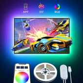 Govee Ruban LED TV 2M RGB USB avec APP, Bande Lumineuse 5050 Rétroéclairage TV Multicouleur, Bande LED Multi DIY couleurs pour 40-55in HDTV Moniteur PC 5V 4pcs x 50cm
