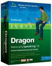 Nuance Dragon NaturallySpeaking Update Dragon Naturally Speaking Preferred CD Brown Bag