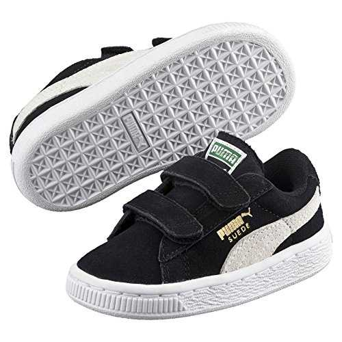 Puma Suede 2 Straps PS, Sneakers Basses Mixte Enfant, Noir Black White 01, 33 EU