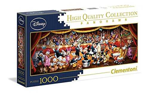 Clementoni - 39445 - Disney Panorama Collection - Orchestre - 1000 Pièces