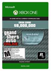 Grand Theft Auto Online | GTA V Megalodon Shark Cash Card | 8,000,000 GTA-Dollars | Xbox One Download Code
