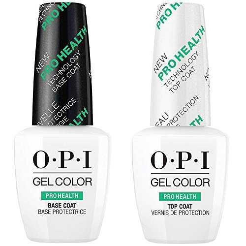OPI GELCOLOR ProHealth Base & Top Coat Duo [15ml] pour Vernis gels semi-permanents