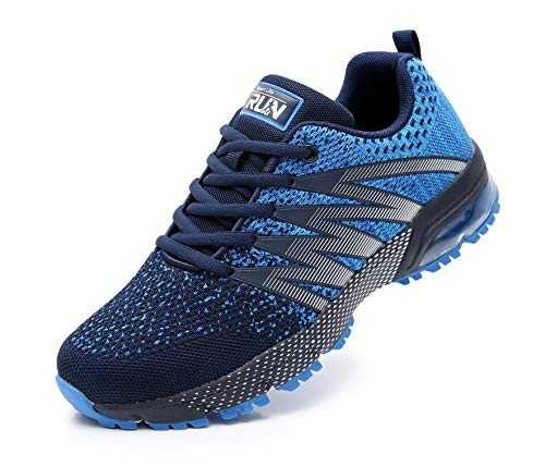 Azooken Homme Femme Sneakers Chaussures de Course Running Sport Fitness Gym Outdoor athlétique Multisports Casual(8995 Blue42)