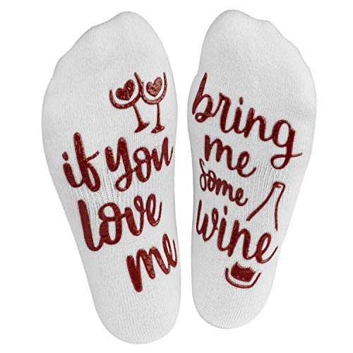 If You Can Read This Bring Me Some (Wine, Chocolate, Coffee) - Damen Socken für Geschenke - Wein, Schokolade, Kaffee (Burgunder Wein)