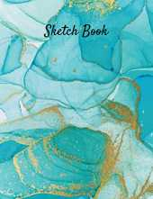 "Sketch Book: Large Notebook for Drawing, Writing, Painting, Sketching or Doodling, 110 Blank Pages, 8.5"" x 11"". Alcohol Ink Art Vol.4"