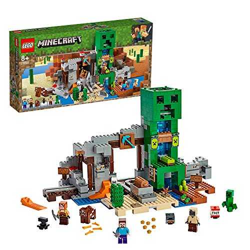 LEGO- Minecraft Game Miniera del Creeper Giocattolo, Multicolore, 21155