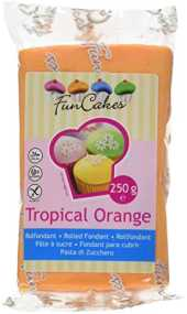 FunCakes Fondant -Tropical orange 1 Pack (1 x 250g)