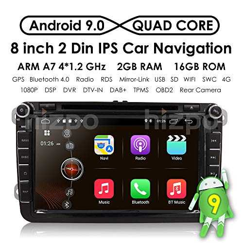 "HIZPO 8"" Android 8.1 HD Digital Multi-touch Screen 1080P Video Car in Dash DVD Player Custom fit for Volkswagen / Seat / Skoda"