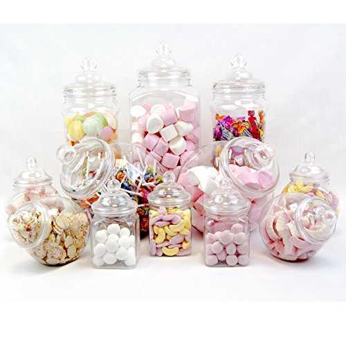 12 Pot vintage style victorien Pick & Mix Sweet Shop Candy Buffet kit Pack de fête