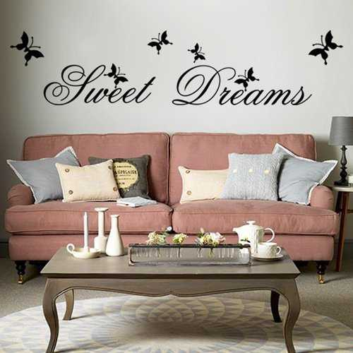 "MFEIR® Stickers Muraux citations Stickers Muraux chambre adulte ""Sweet Dreams"" 25 x 70cm"