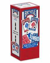 Bicycle Jumbo Cartes à Jouer, Mixte Adulte, 1030651, Rouge/Bleu, Pack of