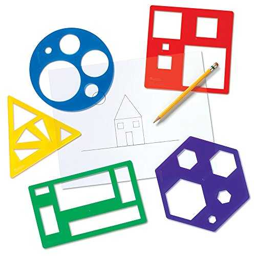 Learning Resources Kit de pochoirs de Formes primaires, LER5440