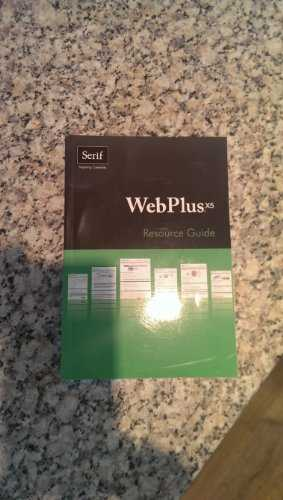 WebPlus X5 Resource Guide by Serif Europe Limited (2011) Paperback