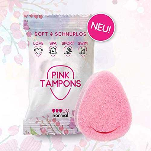 PINK TAMPONS - 11 Stück - Perioden Schwamm, Schwammtampon, SPORT, SWIM, SPA LOVE | Made in Germany
