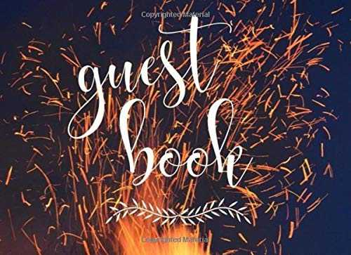 Guest Book:: Chic Fireside Sparks: Birthday, Weddings, Bridal Shower, Baby Shower, Anniversary, Graduation, Retirement, Quinceanera, Christenings, Bar ... Single-sided Sign-in Guestbook (110 pages)