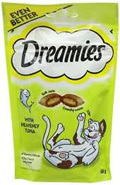 Dreamies Friandises pour chats - Thon ( Tuna ) - 60g (8 Paquets)