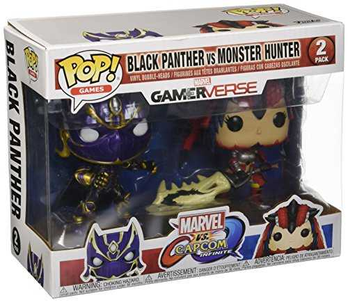 Figurine - Funko Pop - Marvel vs Capcom - Black Panther vs Monster Hunter 2Pack