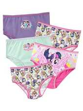 Mon Petit Poney - Culotte Pack de Cinq - My Little Pony - Fille - Multicolore - 2-3 Ans