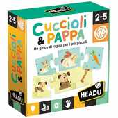Headu IT20058 Gioco Cuccioli & Pappa, Multicolore