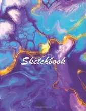 Sketch Book: Large Notebook Marble purple: Sketch Book Large Notebook: Blank paper sketchbook Notebook for sketching, drawing, painting or doodling, 160 PAGES