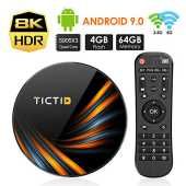 TICTID Android TV Box Android 9.0【4G 64G】 S905X3 Boitier Android TV Bluetooth 4.0, TX6 Plus Amlogic S905X3 Quad-Core Cortex-A55, Box Android TV LAN1000M Wi-FI 2.4G/5G TV Box