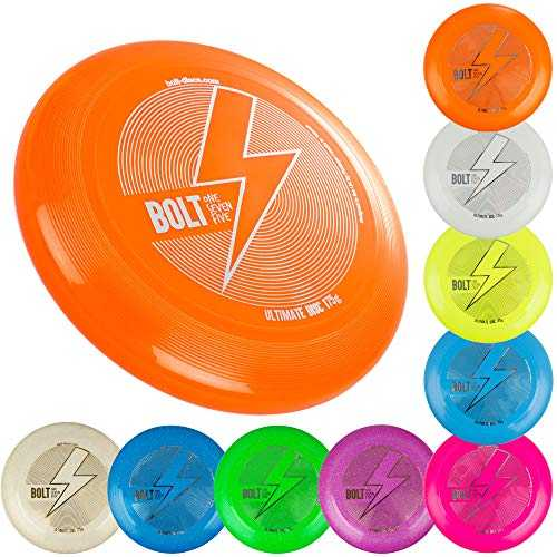 BOLT OneSevenFive Ultimate Frisbee Flying Disc! Cinq Couleurs UV Disponibles! (Bleu)
