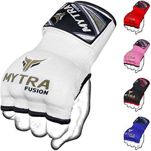 Mytra Fusion Kids Hybrid Boxing Inner Gloves Punching Boxing MMA Muay Thai Gym Workout Gel Inner Gloves (White, Junior)