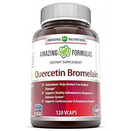 Amazing Nutrition Quercetin 800 Mg with Bromelain 165 Mg - 120 VCaps