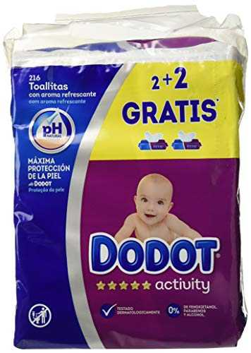 Toallitas Dodot Activity, Pack of 3 x 4 (648 toallitas )