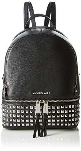 Michael KorsRhea Medium Studded Pebbled Leather BackpackMujerBolsos mochilaNegro (Black)11.4x25.4x29.8 centimeters (B x H x T)