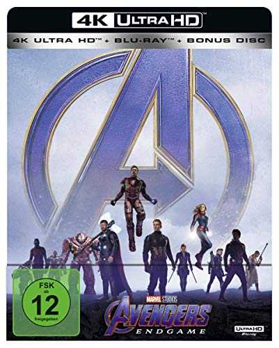 Avengers: Endgame 4K-UHD Steelbook (Limited Edition) [Blu-ray]