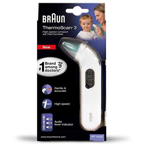 Braun IRT3030 Thermoscan 3 Thermomètre Auriculaire Infra Rouge