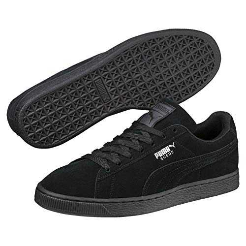 Puma - Suede Classic+ - Baskets mode - Mixte Adulte - Noir (black-dark shadow) - 42.5 EU