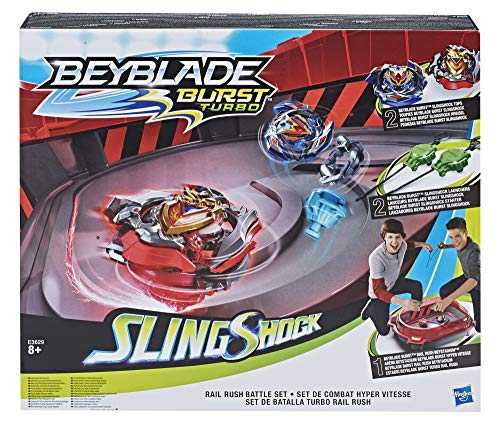 Hasbro Beyblade Burst E3629EU4 - Rail Rush Battle Set, Spielset