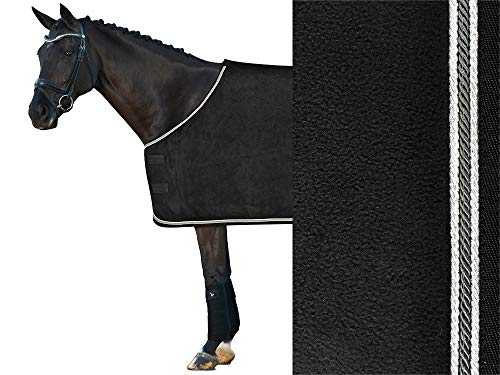 IW Isabell Werth Couverture en Polaire pour Cheval Noir/Anthracite Tailles 155