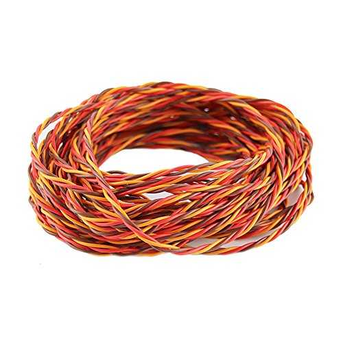 OliYin 32 Feet 22awg 60cores Twisted Servo Lead Servo Extended Cable Twisted Wire for JR Servo Extension