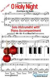 O Holy Night - Solo with Piano acc. (key F): Cantique de Noël (English Edition)
