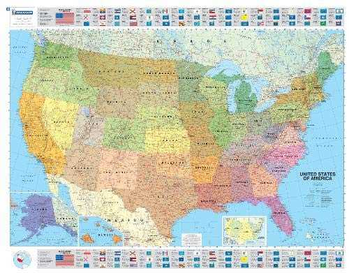 Michelin USA Political Map 1/3 850 000 -