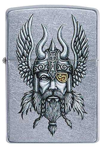 Zippo Briquet Coupe-Vent Viking Warrior Unisexe Chromé