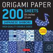 Origami Paper 200 Sheets Japanese Shibori: Extra Large High Quality Double-Sided