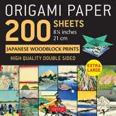 Origami Paper 200 Sheets Japanese Woodblock Prints: Extra Large Tuttle Origami Paper: High-quality Double Sided Origami Sheets Printed With 12 Different Prints (Instructions for 6 Projects Included)