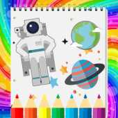 Free Space Coloring Book